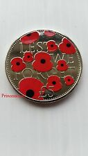 2016*UNC*BAILIWICK OF JERSEY POPPY~LEST WE FORGET £5 FIVE POUND COIN