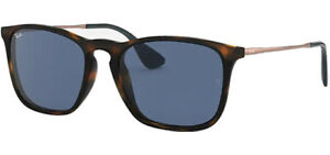 Ray-Ban Chris Tortoise Square Sunglasses - RB4187 639080 54 - Made in Italy
