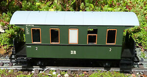 PIKO G SCALE DR  2-AXLE 2ND CLASS COACH BOXED HARDLY USED GARDEN RAILWAY LGB