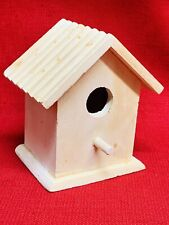 Raw Wood Bird House Feeder 5�x 3 3/4�x 5 3/4�tall