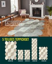 Waschbarer Teppich Wohnzimmer Modern Teppich-Set 5 teilig