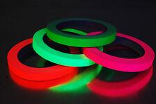 4 Pack Half Inch Blacklight Reactive Fluorescent Gaffer Tape 4 Rolls x 20 Yards