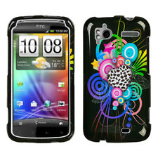 For Sensation 4G Love Leopard Hard Snap On Phone Protector Cover Case