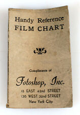 FOTOSHOP, INC HANDY REFERENCE FILM CHART, VINT.