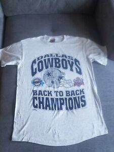 Rare Vintage New Dallas Cowboys Back To Back Super Bowl Champions 1994 Size M