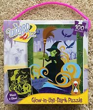 "NIB Wizard of Oz Glow-in-the-Dark Puzzle NEW 100 Pieces 11.5"" x 15"""