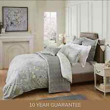 Dorma Maiya Embroidered 100% Cotton Grey Reversible Duvet Cover