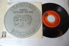"""GRAND FUNK RAILROAD""""PEOPLE LET'S STOP THE WAR-DISCO 45 GIRI CAPITOL Italy 1971"""""""