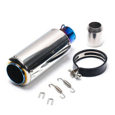 51MM Stainless Steel Glossy Blue Tip Motorcycle Exhaust Pipe Muffler Escape Pipe