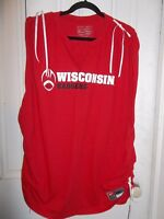 Nike Team Wisconsin Badgers Tied-Up Sleeveless Tee Size 3X NEW!