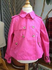 RALPH LAUREN Hot PINK Jacket RAIN COAT Short Trench Epaulettes 5 MILITARY Style