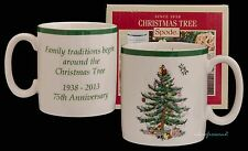 SPODE Christmas Tree 75 ° ANNIVERSARIO 0,22 L 8oz Tazza Boxed