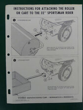 """Toro Instructions For Attaching Roller Or Cart To The 32"""" Sportsman Rider"""
