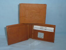 New York NY GIANTS     Leather BiFold Wallet    NEW   tan2