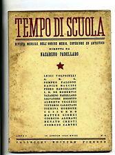 TEMPO DI SCUOLA#Mensile Ord. Medio/Superiore/Artistico-An.I-N.5#Aprile 1940