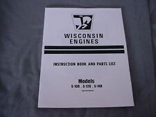WISCONSIN ENGINE  S-10D,S-12D,S-14D REPAIR MANUAL BRAND NEW