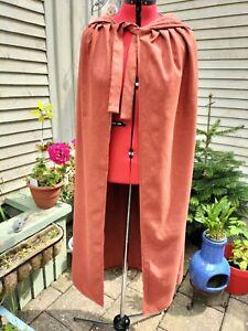 orange cloak with hood  (rusty)