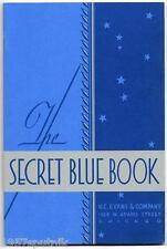 90 H.C. Evans 1932 Secret Blue Book Slots  Gambling Items Catalogs 1978 Reprint