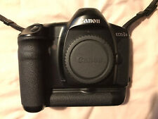 Canon EOS 1N 35mm SLR Film Camera Body Only, with battery grip and carry case