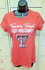 Medium NCAA Texas Tech Red Raiders Womens Baseball Tee Red