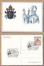 VATICANO VATICAN CARTOLINA GIOVANNI PAOLO II 1981 FIERA FRANCOBOLLO DI RICCIONE