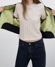 Zara Top With Pearl Size S