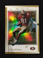 """TERRELL OWENS INSERT SP AUTHENTIC """"NEW CLASSICS"""" 1999 SF 49ERS FOOTBALL CARD"""