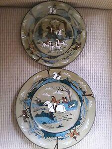 "Buffalo Pottery (Deldare)/2 Plate Setting (8"" & 9"") /The Fallowfield Hunt"