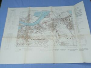WW2 GERMAN LUFTWAFFE TARGET MAP OF MIDDLESBROUGH 1941 RAILWAYS, BRIDGES ETC.