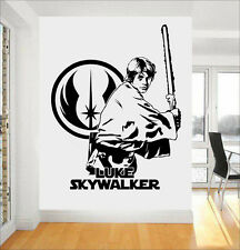 Star wars jedi luke skywalker diy wall art sticker/autocollant/peinture murale