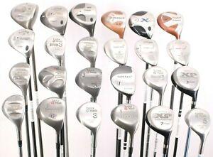 Lot of 24 Various Golf Club Woods Cobra TaylorMade Adams Callaway Titleist RH