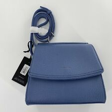Matt & Nat Erika Lake Crossbody Satchel Bag Purse Blue With Strap Vegan Leather