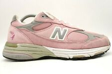 New Balance 993 Pink Leather Breast Cancer Edition Running Shoes Women's 8 D