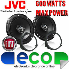 """Fiat Grande Punto 06-14 JVC 16cm 6.5"""" 600 Watts 2 Way Front Door Car Speakers"""