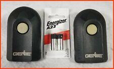 Lot of 2 Genuine GENIE ACSCTG Type 1 Garage Door Openers Plus Two New Batteries
