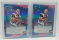 X2 LOT 2017 Donruss Optic 🔥 Cooper Kupp Pink Prizm Rated Rookie RC Rams Card