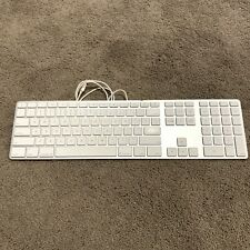 Apple Slim Keyboard Genuine OEM A1243 EMC 2171 USB Aluminum Silver White