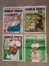 **SUPER RARE**LOT of CHARLIE HEBDO N° 1011 1057 1177 1178 Historical collection!