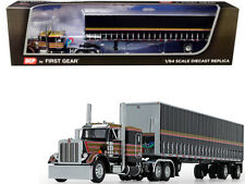 Peterbilt 359 Tautliner Spread-Axle Trailer  1/64 Diecast  DCP First Gear