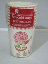 8 Vintage Strawberry Shortcake party hot / cold beverage cups - New