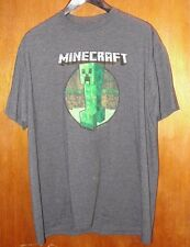 MINECRAFT Authentic Mojang Jinx CREEPER Awesome Gray 2XL T-Shirt New Without Tag