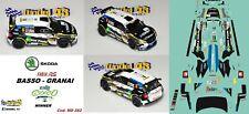 DECAL  1/43 -  SKODA FABIA R5  -  BASSO  - Rally  CIOCCO   2019