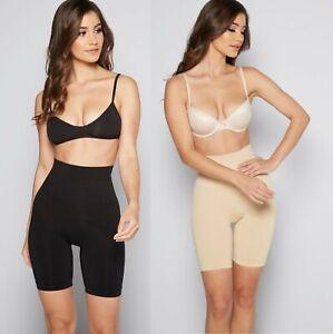 Ladies Womens Seamless Bum Lift, Waist And Thigh Control Brief Shapewear Shorts
