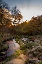 Padley Gorge Peak District Autumn Waterfall Photo Prints Canvas Gifts