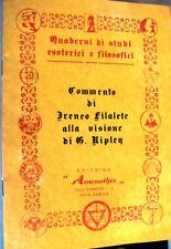 COMMENTO DI IRENEO FILALETE ALLA VISIONE di G. RIPLEY STUDI ESOTERICI AMENOTHES