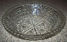 "ANCHOR HOCKING 11"" diam. STARS AND BARS GLASS BOWL, VINTAGE"
