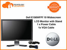 "Dell E198WFPf 19"" Widescreen LCD Monitor with VGA Cable and Power Cable"