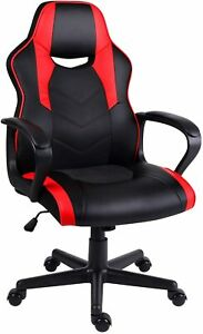 Hadwin Gaming Chair PC Office Chair Red Racing Sports Swivel Leather Desk Chair