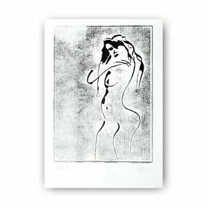 "Woodcut ""Woman nude"" 30 cm Andreas Loeschner-Gornau 2020 _/"