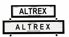 6 Figure Number Plate Covers European Combination Black With Lines Altrex 6LEV
